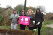 Young members of the National Citizens Service from across West Yorkshire who volunteered at Braithwaite  community allotments