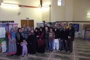 Mosque members and guests gather during last Sunday's open day at the Madinah Mosque, in Spencer Street