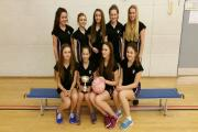The victorious Parkside School under-14s netball team