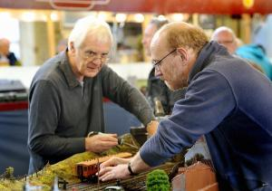 Repairs under way during a previous Keighley Model Railway Club open day