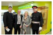 Pictured at the reopening of the coffee shop at Airedale Hospital are, from left, Airedale NHS Foundation Trust chairman Michael Luger, Friends of