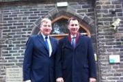 Keighley MP Kris Hopkins with Health Secretary Jeremy Hunt at Manorlands