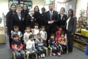Staff, children and supporters at Highfield Community Pre-School