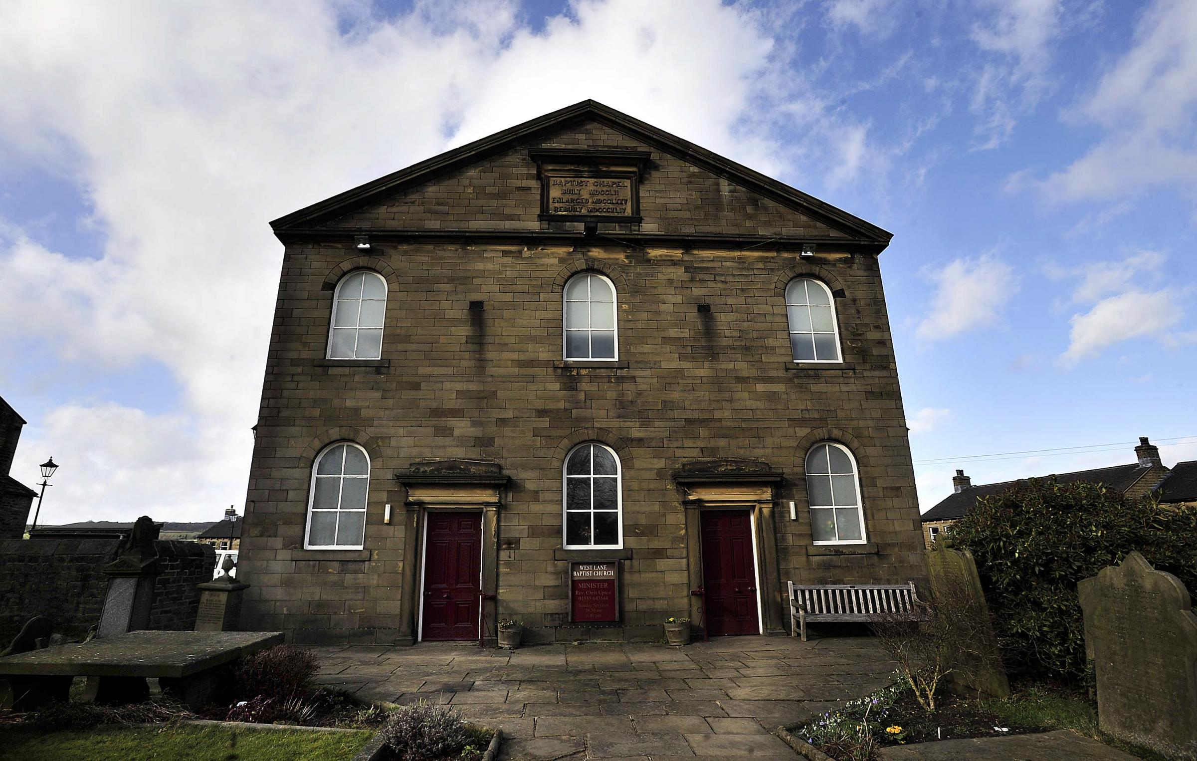 West Lane Baptist Church, which hosts screenings organised by Haworth Film Club