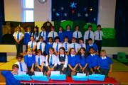 The Year five children at Long Lee Primary School who led a carol concert