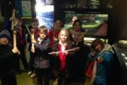 Hothfield Junior School pupils during their visit to Cliffe Castle Museum
