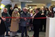 The ribbon-cutting ceremony at the opening of Powell and Family's Keighley shop