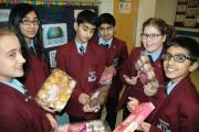 Holy Family School students involved in the cake sale for the Jubilee Project