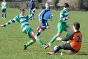 Laszlo Szennyai goes close for Keighley Shamrocks Knights under-14s in their 5-1 win against Menston. Laszlo was among the scorers with two