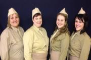 Army entertainers inn Sutton's When The Lights Go On Again, from left, Bev Shuttleworth, Katrina Knights, Charlotte Harrison, Emma-Jayne Waters