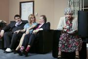 A scene from Keighley Playhouse's production of the comedy A Foot In The Door