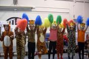 Tiger feet dancing at Lees Primary School