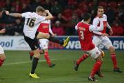 Fleetwood Town in League One action against the Bantams last season – Picture: Thomas Gadd