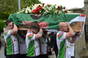 Hundreds pay final farewell at funeral of Keighley Cougars star Danny Jones