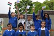 Pupils from Eastwood School celebrate the Central Europe day