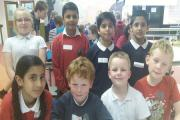Steeton Primary School's successful maths challenge team, from left, back, Ellie-Mae Bahci, Rehan Hussain, M Isa Waheed, Abdullah Asif, and front, Mysha Rasool, Callum Gould, Miles Sharpe and Ben Pawson