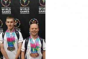 Keighley and Haworth win medals at Special Olympics World Games in Los Angeles