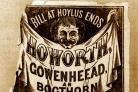 Bill o' th' Hoylus End, on the cover of his Howorth, Cowenheead, an Bogthorn Almenak for 1873