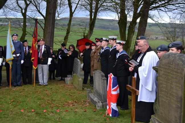 Sunday's ceremony to unveil the headstone for Private Herbert Moore