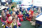 Worth Valley Primary School pupils take part in the superhero day