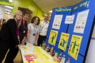 Launching the new healthy eating campaign at Airedale Hospital are, from left, Claire Clayton, catering services manager (Sodexo), Nicky Feather, a volunteer at the Friends of Airedale shop, dietetic assistant Elizabeth Dawson, and dietician team leader N