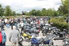 Bikes on show at a Big Bike Sunday event organised by the Girder Fork and Classic Motorcycle Club