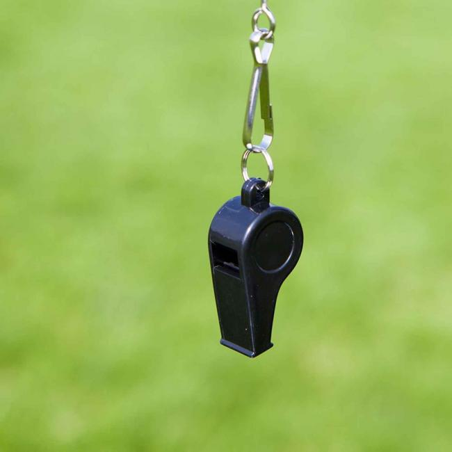 A referee's whistle