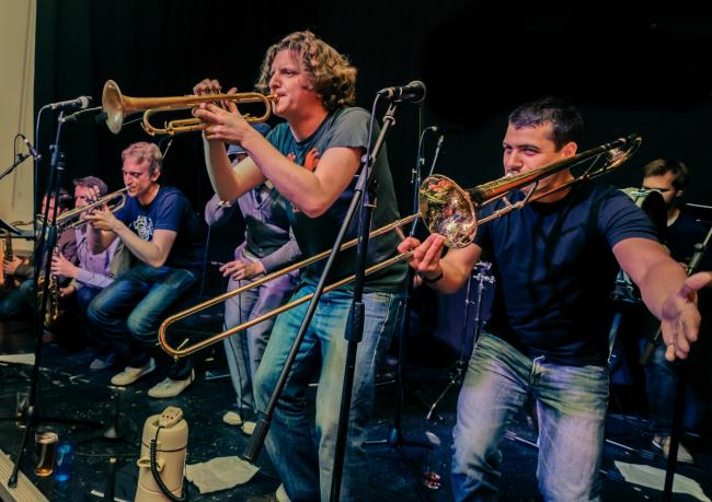 Members of the Hackney Colliery Band, just some of the many entertainers who will be showing off their talents at the Grassington Festival