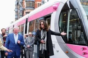 Ozzy Osbourne crazy about new tram named in his honour