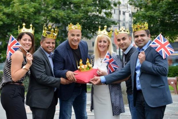 Curry houses who represented Bradford in the Curry Capital 2016 contest with Diana Greenwood, Mohammed Rafiq, Shabir Hussain, Tricia Tillotson, Faisal Hussain, Fawad Shoukat