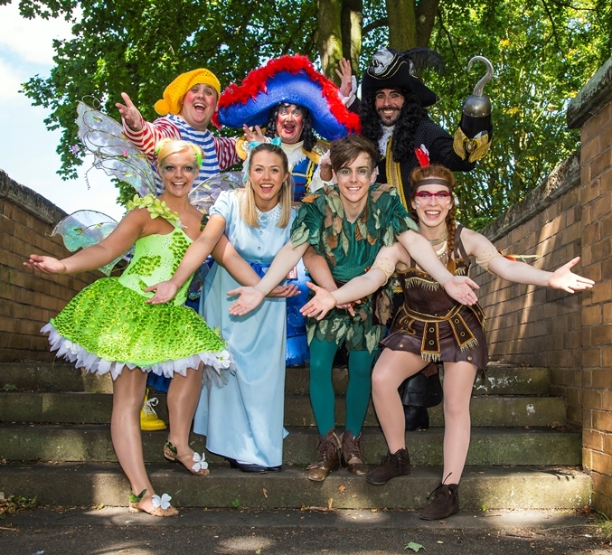 The cast of the Halifax pantomime Peter Pan
