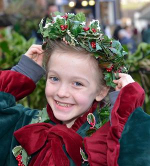 Keighley News: HUNDREDS of people converged on Haworth to welcome in Christmas.