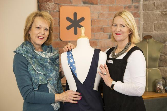 Lynne Lilley, left, with The Stitch Society's Charlotte Meek