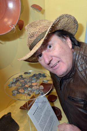 Keighley News: A COLLECTION of ancient Roman coins discovered by a metal detector enthusiast have gone on public display. 