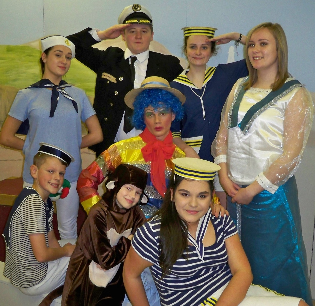 Cast members of the Oakworth Methodist Church pantomime Sinbad The Sailor