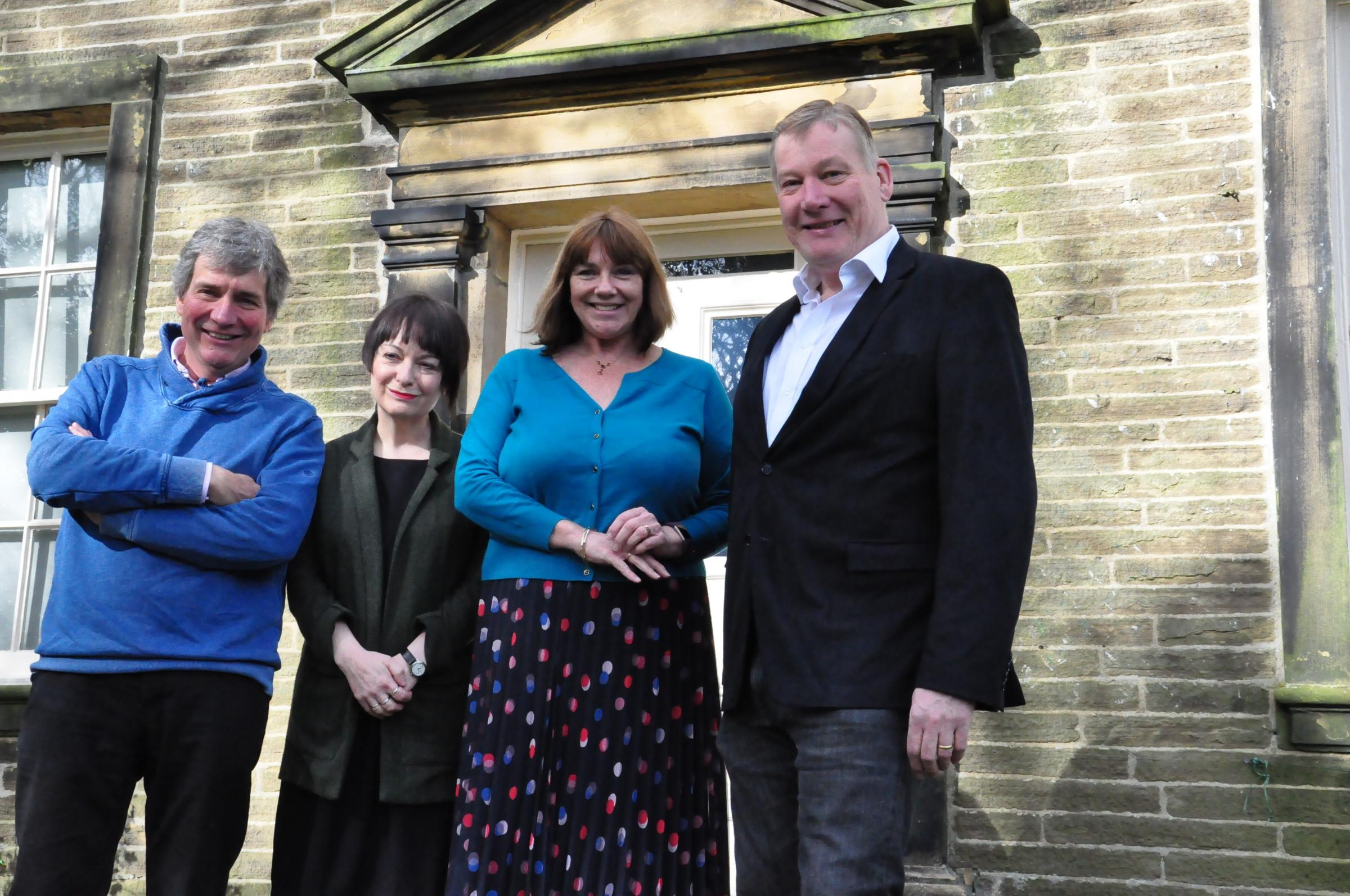 Keighley MP Kris Hopkins, right, during a visit to the Brontë Parsonage Museum, pictured with, from left, John Thirlwell, chairman of the Bronte Society, Ann Dinsdale, curator and librarian, and Kitty Wright, executive director of the Bronte Parsonage Mu