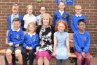 Mary Watson, with children from St Joseph's Catholic Primary School
