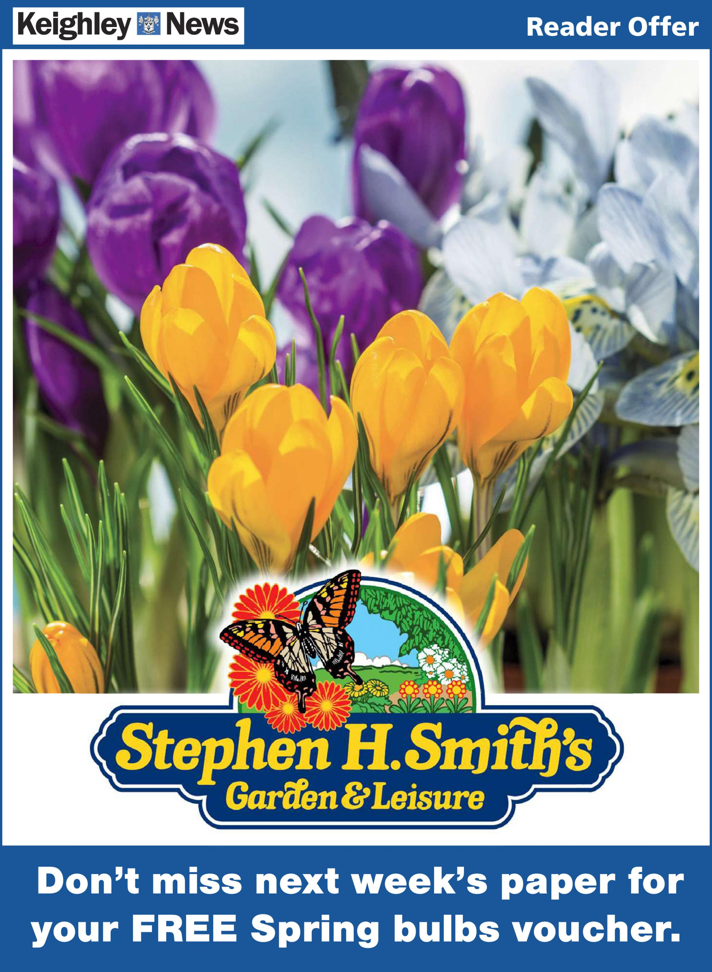 Voucher for FREE Spring bulbs worth £3 in this week's Keighley News