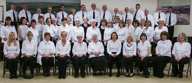 Oxnop Singers who are performing a concert in their home village of Oxenhope.