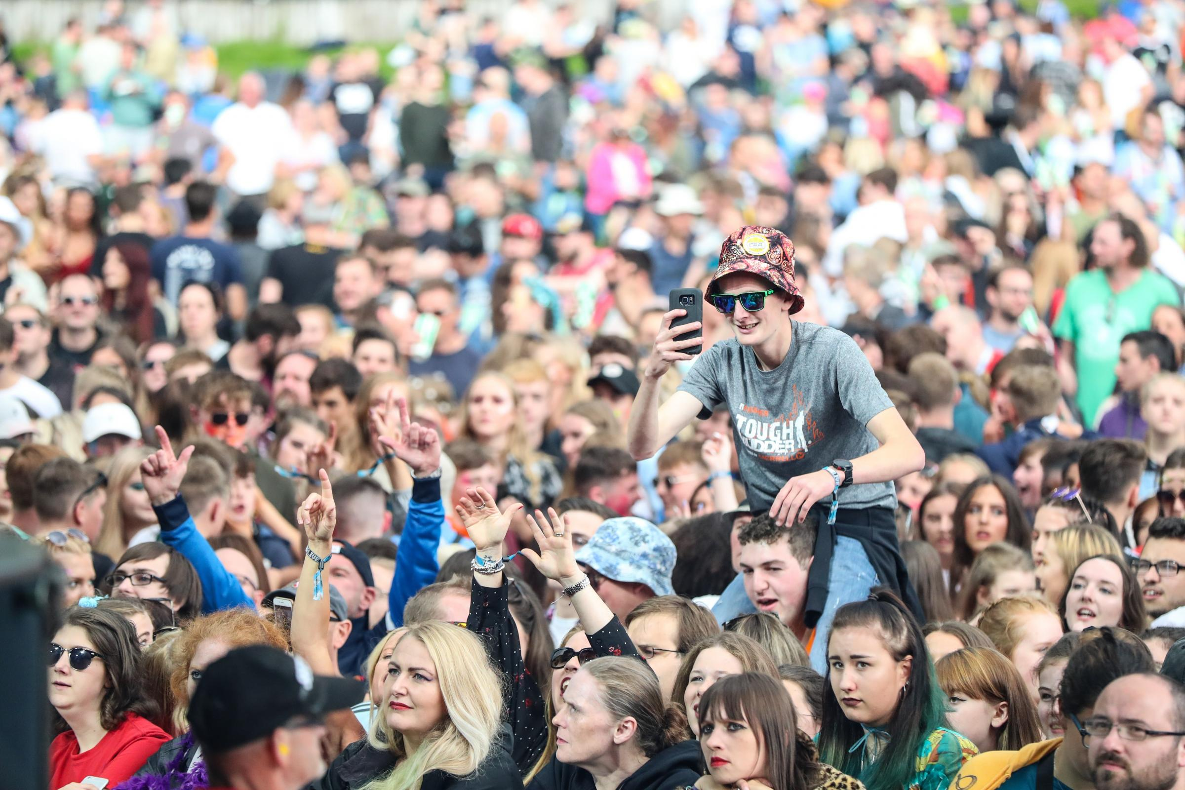 The Crowd watch Twin Atlantic perform at this year's Bingley Music Live.