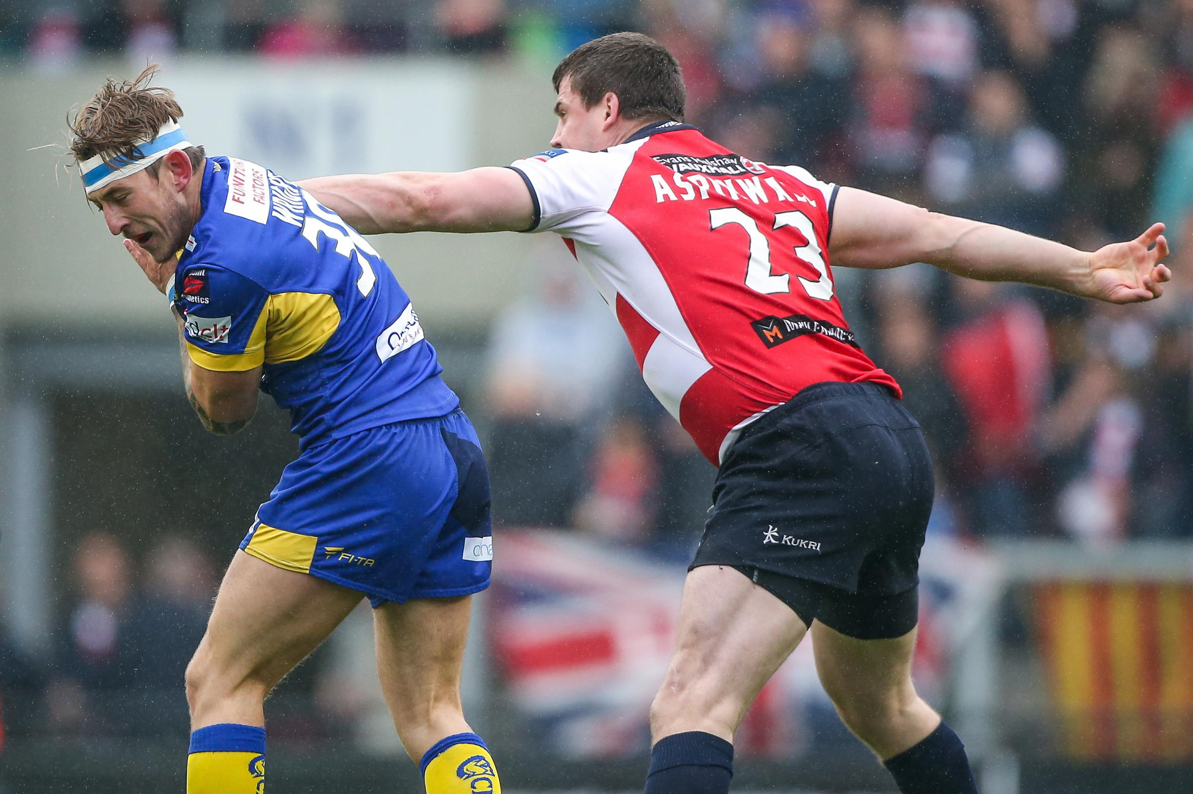Ryan Wright, pictured left in action for Doncaster against Leigh, has signed for Keighley Cougars