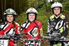 From left, Olivia Brooksbank and Beth Dunning – who have both won their British Championship classes – and Gabby Whitham   Picture: Barry Robinson