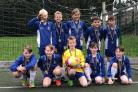 Tournament-winning soccer players from Glusburn Primary School