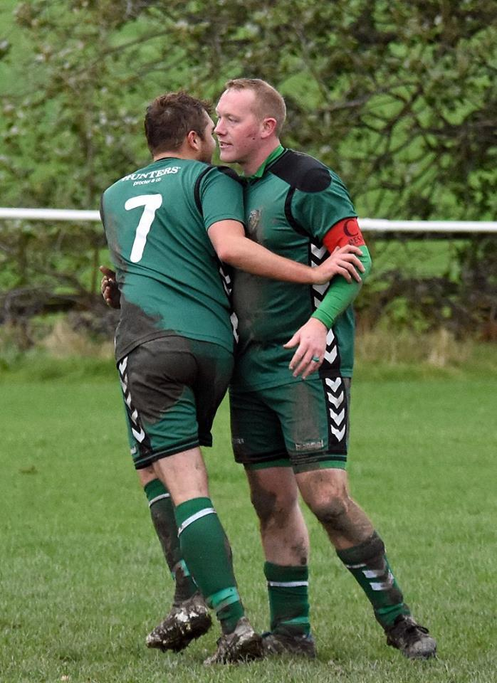 Andy Howland, right, came off the bench to play a key role for Steeton Reserves