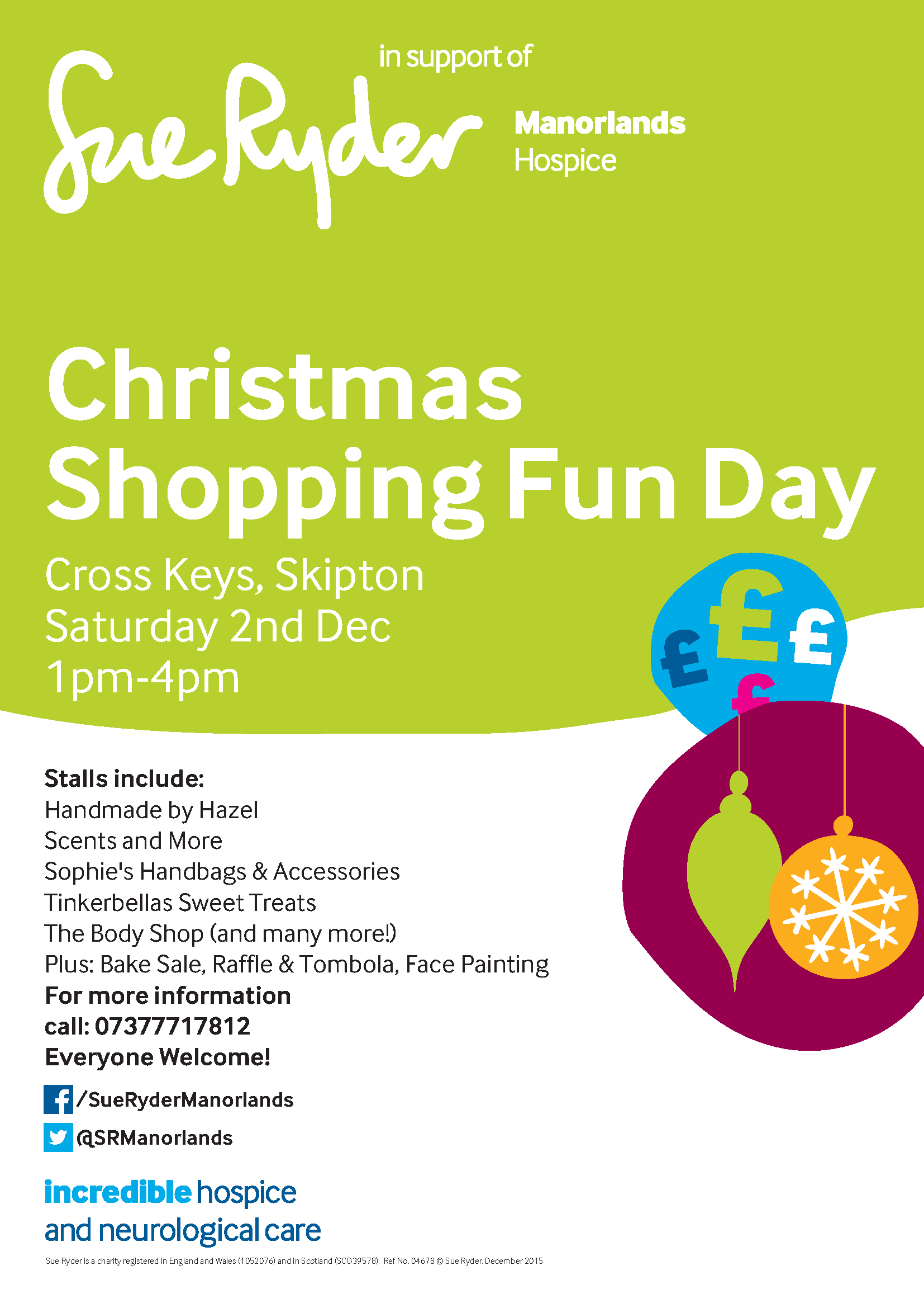Christmas Shopping Fun Day for Manorlands Hospice
