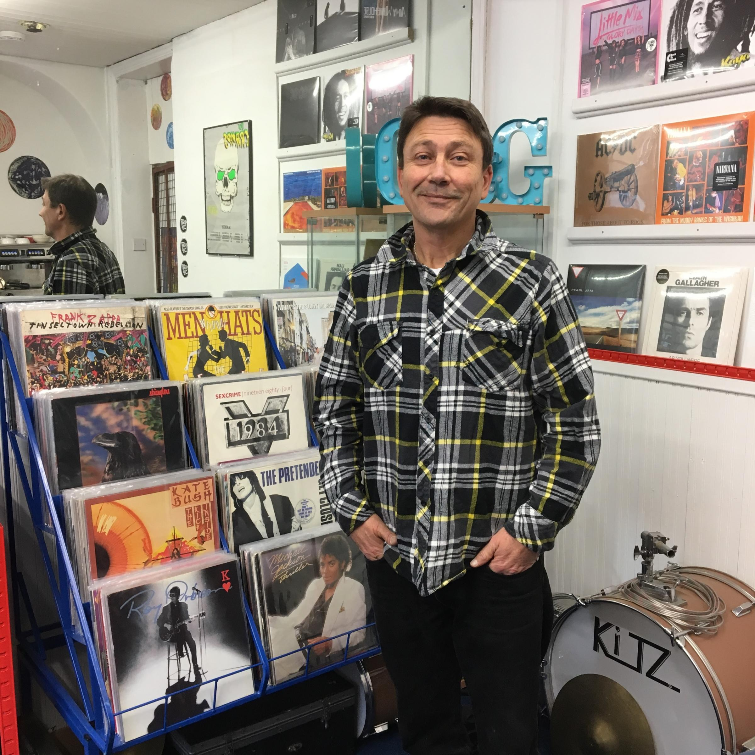 Gareth Beck is having early success with his new vinyl records shop Grind and Groove