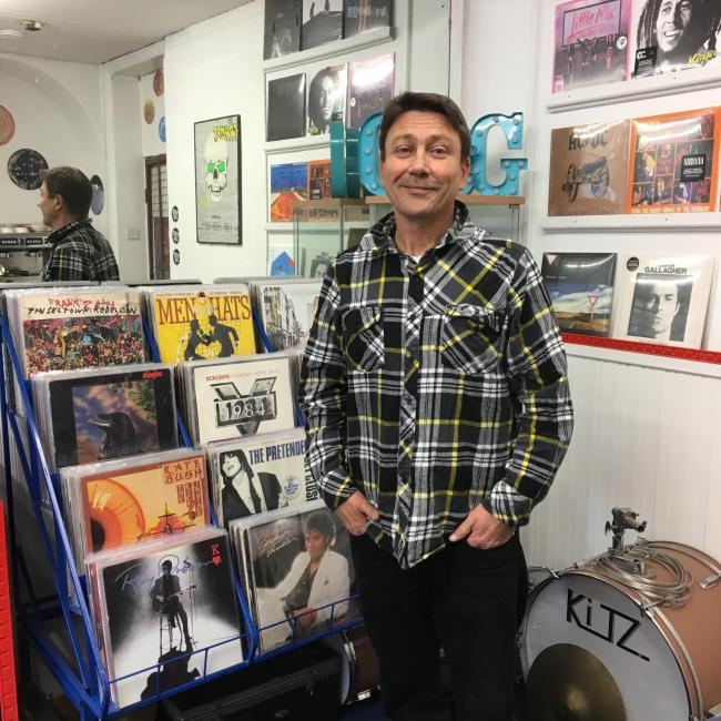 Cullingworth man's Keighley vinyl record shop Grind and