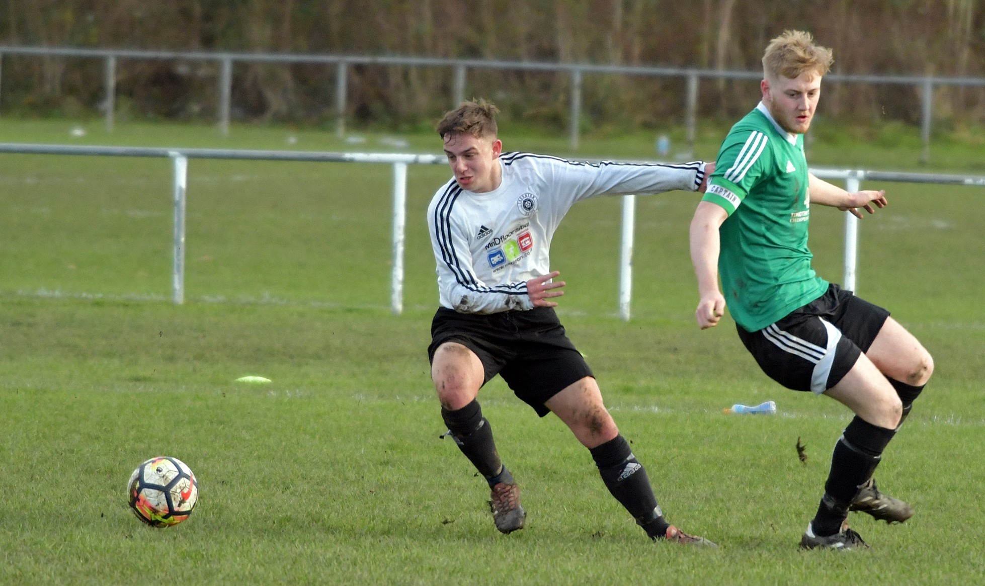 Keann Shaw, right, opened the scoring for Oxenhope in their win over Altofts