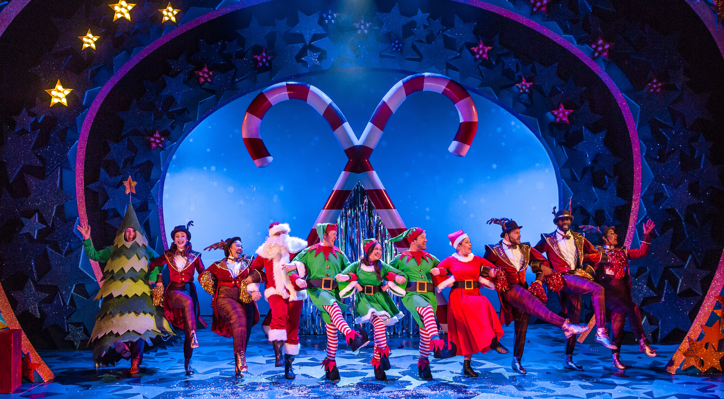 A scene from Nativity! The Musical, which is at Leeds Grand during the Christmas season. Picture by Richard Davenport.