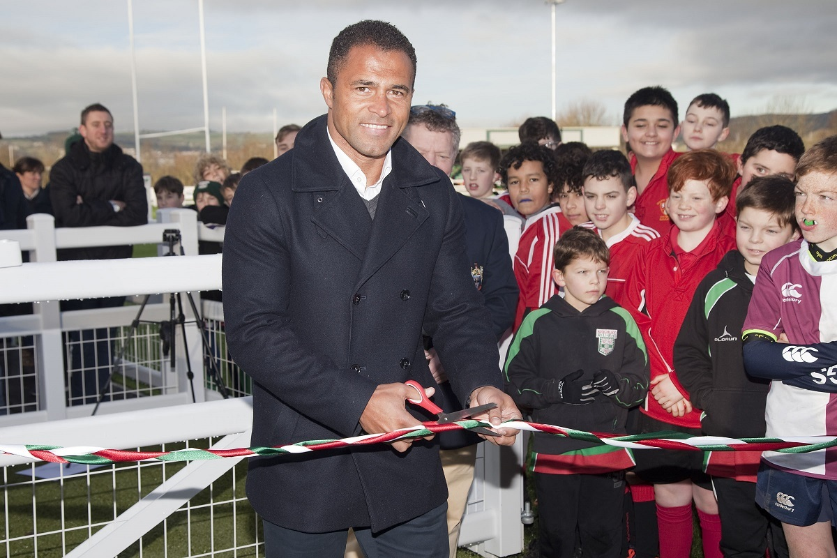 Former England World Cup-winning hero Jason Robinson officially opens Keighley RUFC's Rugby 365 AGP pitch Picture: Charlie Perry